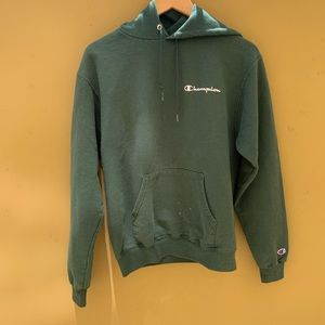 Champion Green Hoodie Size Small